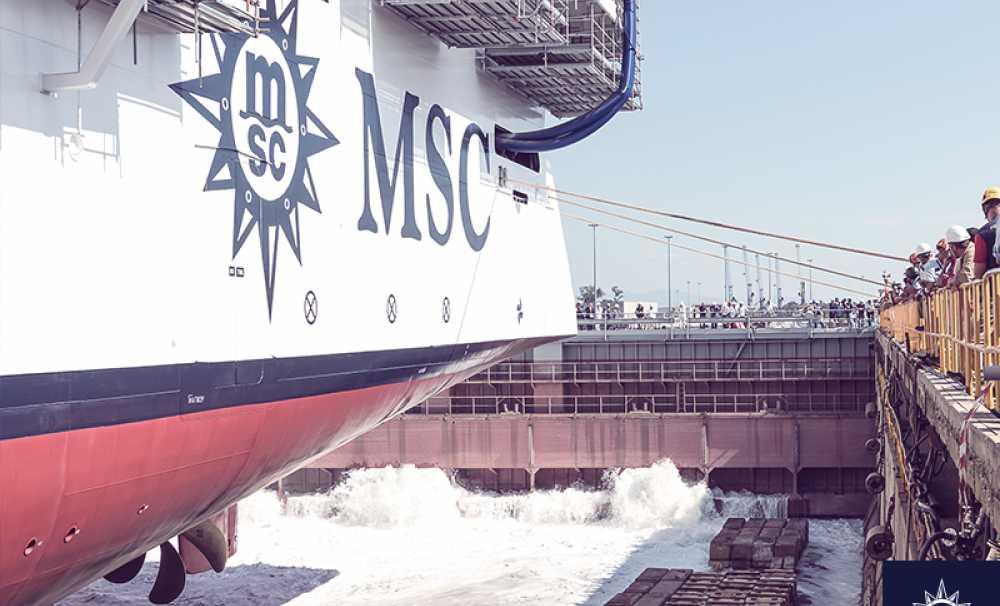 MSC Seavıew'ın Suya İndirilişini Kutladılar