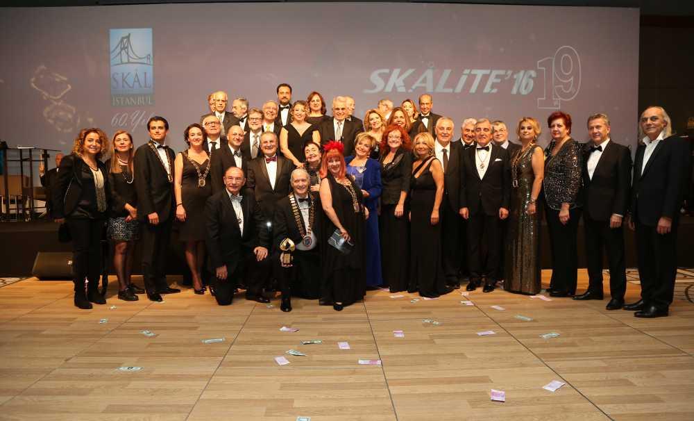 19. Skalite Özel Ödülleri Skal International İstanbul Kulübü'nün 60. yıl Kutlamalarında Sahiplerini Buldu
