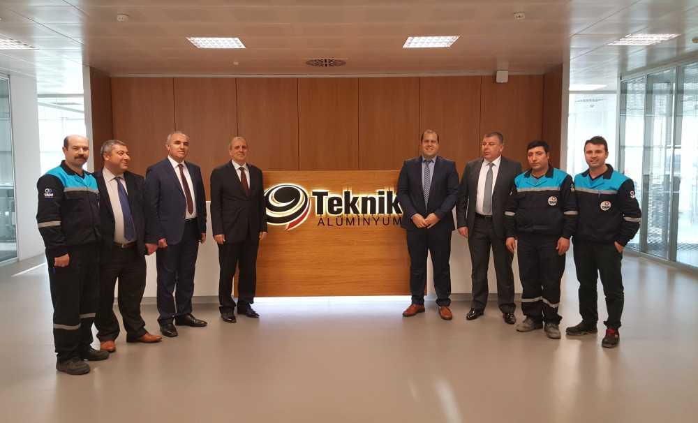 Teknik Alüminyum Tekirdağ valisi Enver Salihoğlu'nu ağırladı