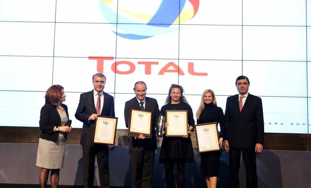 TOTAL, akaryakıt sektöründe 2015 yılında itibarını en çok arttıran firma seçildi
