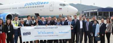 Gazipaşa-Alanya Rusya'dan Gelen İlk Uçuşu Karşıladı
