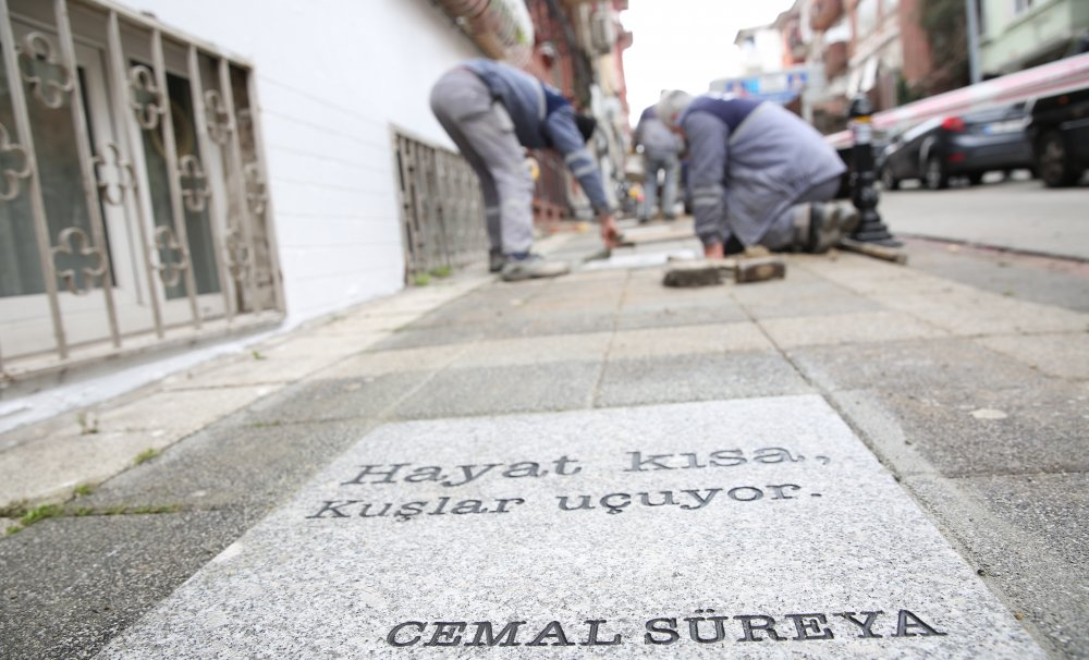 Şiir Sokakta Cemal Süreyya Kadıköy'de