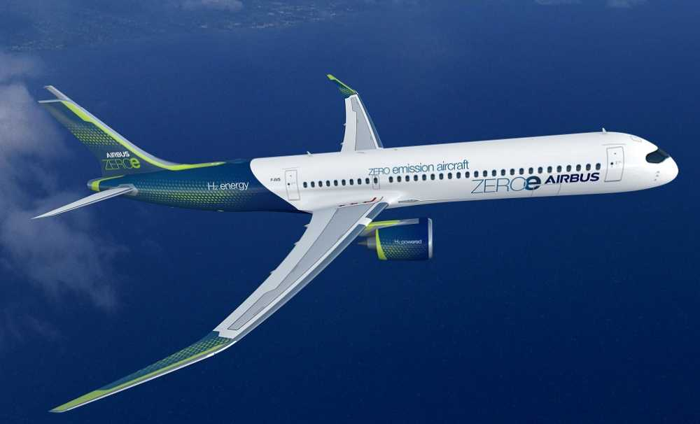 Airbus yeni sıfır emisyon konsept uçağını duyurdu...