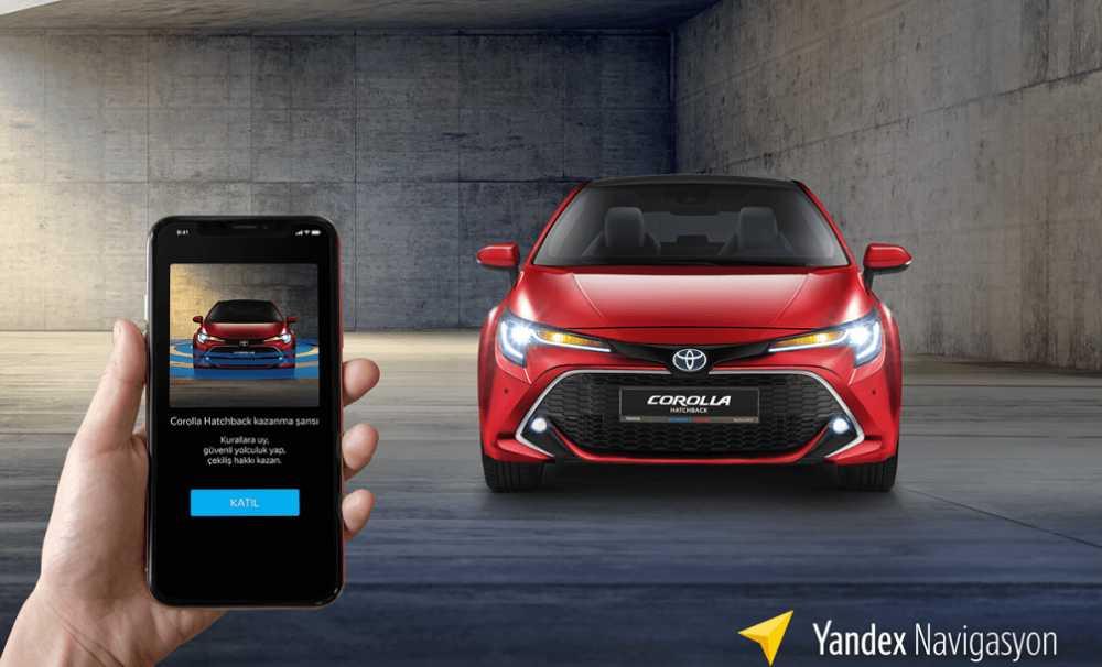 Yandex Navigasyon ve Toyota'dan,Yeni Corolla Hatchback ödüllü güvenli sürüş kampanyası...