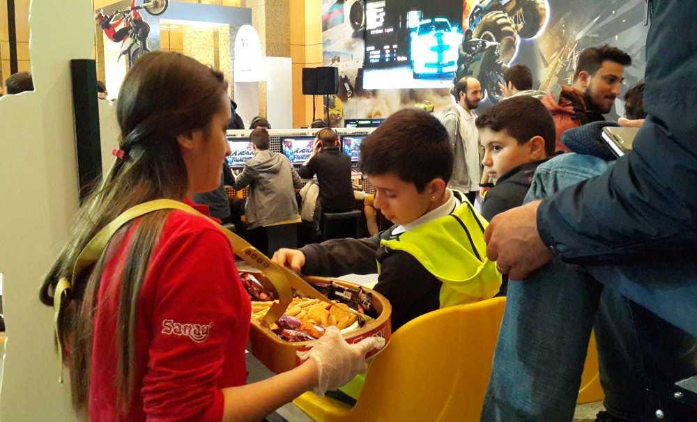 Saray Bisküvi Dijital oyun fuarı'na lezzet kattı