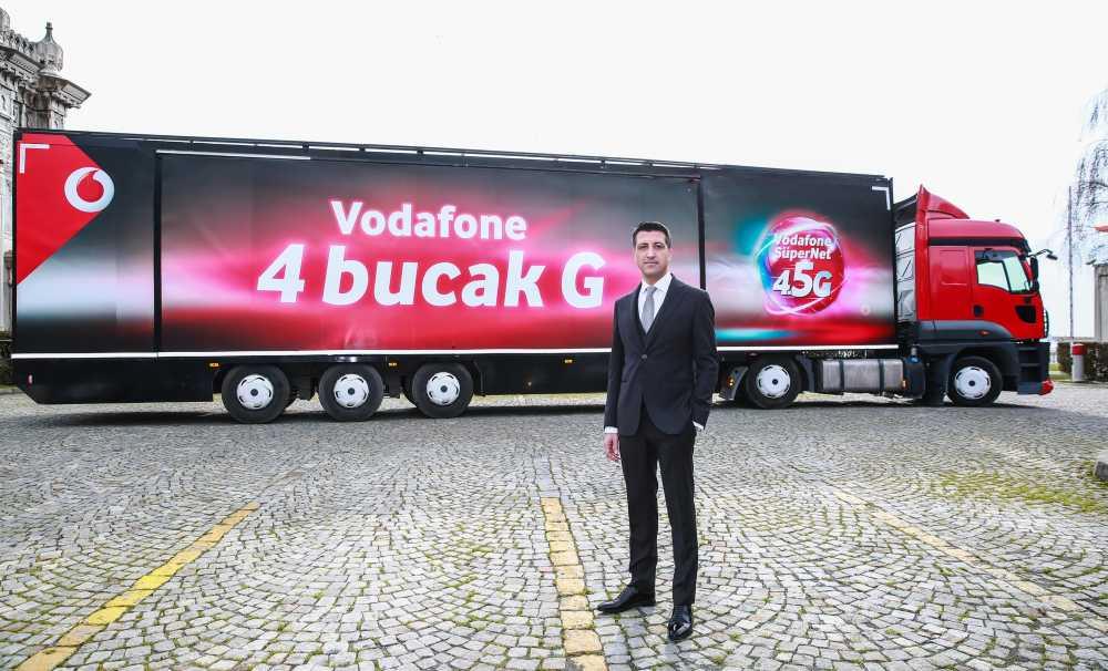 """Vodafone """"4Bucakg"""" Tırı 4.5G İçin Yollarda"""