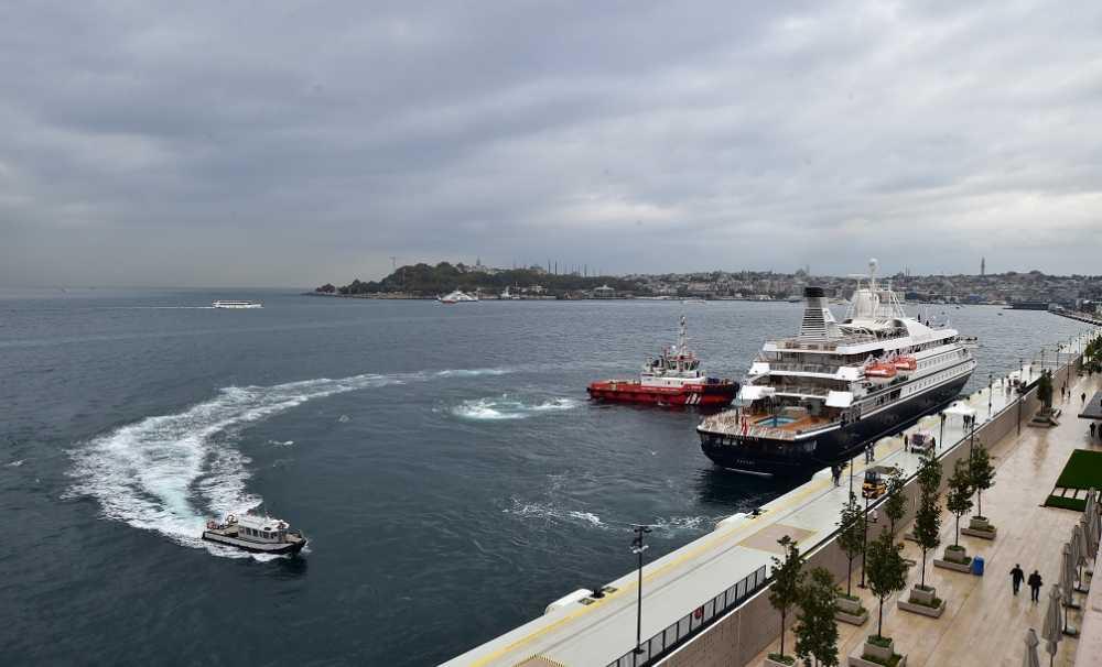 Galataport İstanbul, ilk yolcu gemisini 1 Ekim2021 Cuma günü karşıladı.