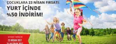 Pegasus'tan Çocuklara 23 Nisan Fırsatı İç Hatlarda % 50 İndirim